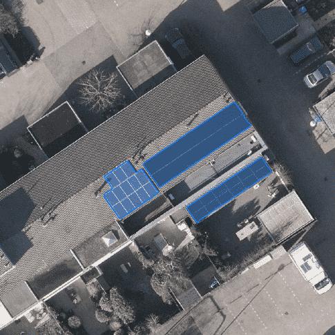 Detectie zonnepanelen op luchtfoto's, GIS, deep learning, machine learning, zonnepaneel segmentatie